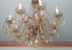 chandelier inside Radission Noida's Prive Collection